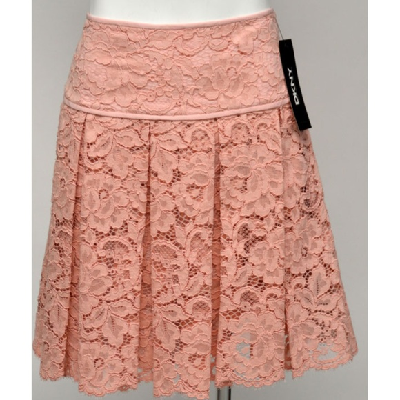 DKNY Dresses & Skirts - NWT DKNY Blush Floral Lace Pleated Mini Skirt 8